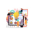 coworking concept for web banner website vector image