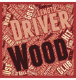 Drivers and Fairway Woods text background vector image vector image