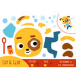 education paper game for children dog vector image vector image