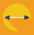 flat modern design with shadow icon barbell vector image vector image