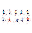 football players soccer sportsman people playing vector image