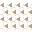 geometric seamless pattern gold background vector image vector image