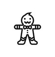 gingerbread man icon vector image vector image