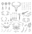 Hand drawn vintage rustic tribal collection vector image vector image