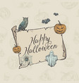 happy halloween trick or treat banner vector image vector image