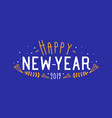 happy new year 2019 wish written with creative vector image vector image