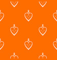 heart shaped pendant pattern seamless vector image vector image