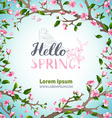 Hello spring template vector image vector image