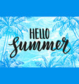 hello summer banner template vector image vector image