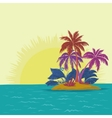 island and sun vector image vector image