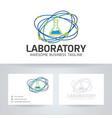 laboratory logo design vector image