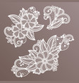 lace fashion handmade decoration with flowers vector image