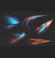 light motion trails high speed effect motion vector image vector image