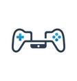 logo design for mobile phone joystick games vector image
