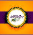 lovely dahi handi janmashtami festival bright vector image vector image