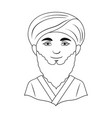 man from middle asiahuman race single icon in vector image vector image
