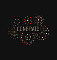 modern greating card with congrats template magic vector image vector image