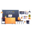 modern office room interior business workplace vector image vector image