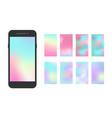modern smartphone app screen soft color gradient vector image