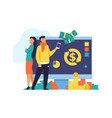 money cashback and transfer flat vector image