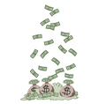 Money fall vector image