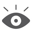 monitoring glyph icon security and eye vision vector image