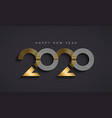 new year 2020 abstract number date gold card vector image