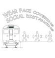 public transport passenger safety advice vector image vector image