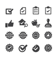 quality control icons vector image vector image