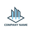 real estate logo concept building log vector image