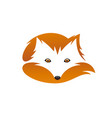 red fox with tail negative space vector image vector image