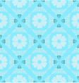 Retro Floral Pattern Wallpaper vector image vector image