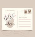 Romantic postcard design with flower background vector image vector image