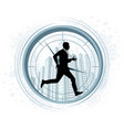 running businessman silhouette vector image vector image