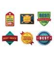 sale labels and ribbons set design elements vector image