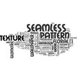 seamless word cloud concept vector image vector image