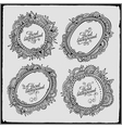 Set of four floral decorative frames vector image