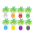 Set of Lovely Tree in Flower Pot vector image vector image