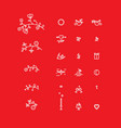 set of micro icons for the design of st valentine vector image vector image