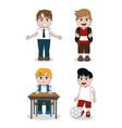 set of schoolboys vector image