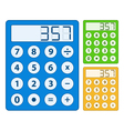 Simple calculator icon vector image