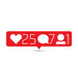 social media instagram modern like follower vector image