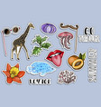sticker set traveling concept vector image vector image