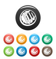 sweet candy icons set color vector image vector image