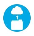 symbol database storage icon image design vector image