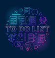 to do list colored made with vector image vector image
