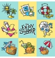 Vacation Decorative Icons vector image vector image