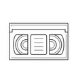 video tape line icon vector image