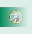 washington state flag fade background vector image vector image