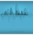 wave landscape background vector image vector image